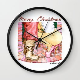 NUDEGRAFIA - 015 Merry Christmas Wall Clock