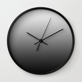 Simply Black & White Color Gradient - Mix And Match With Simplicity of Life Wall Clock