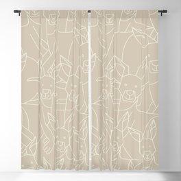 Minimalist Kangaroo Blackout Curtain
