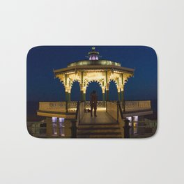 Brighton Bandstand at Night Bath Mat