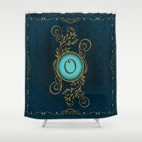 monogram Shower Curtains featuring Monogram O by Britta Glodde