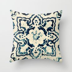tile pattern - Portuguese azulejos Throw Pillow