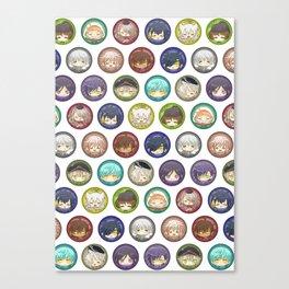 Touken Chibi Head Canvas Print