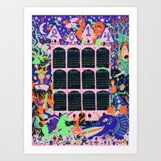 2014 Fantasy Wall Calendar (Color 2) Art Print