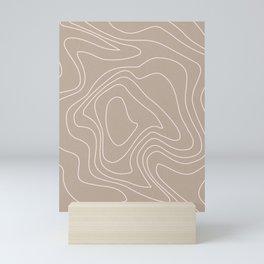 Line Art Waves Mini Art Print
