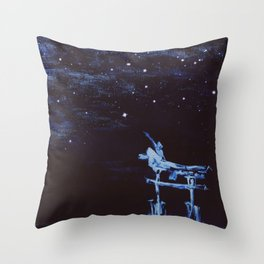 Reaching for Stars Throw Pillow