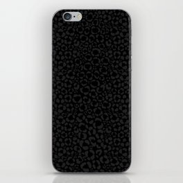 Subtle Black Panther Leopard Print iPhone Skin