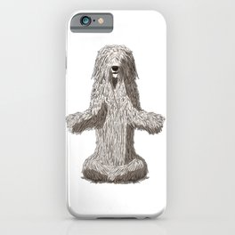 Meditating Komondor Dog iPhone Case