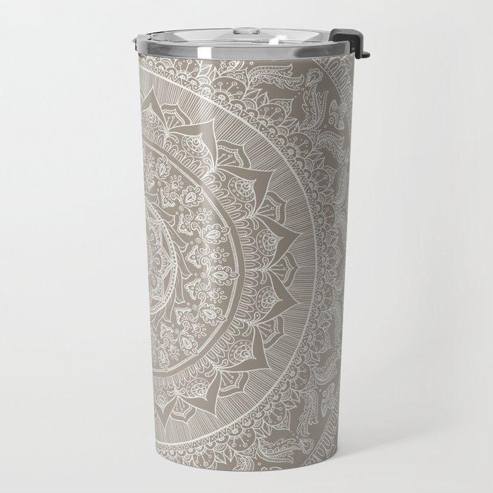 Mandala - Taupe Travel Mug
