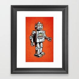 Retro Robot Toy Framed Art Print