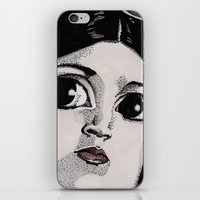 princess leia iPhone & iPod Skins featuring Leia by Drawn by Nina