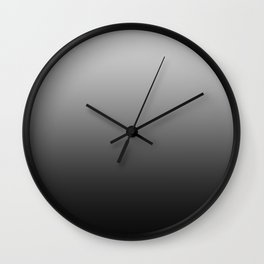 Gray to Black Horizontal Linear Gradient Wall Clock