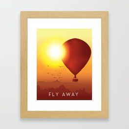 Fly Away on a Balloon Framed Art Print