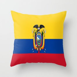 Flag of Ecuador -ecuadorian,Inca,Kichwa,Quito,america, South america,Spanish,Amazonia,latin america Throw Pillow