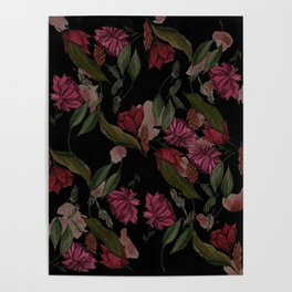 Gothic Floral Poster