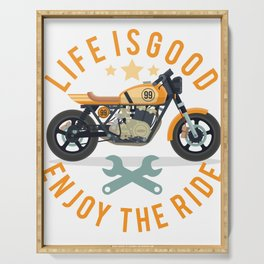 Life Is Good Enjoy The Ride Serving Tray