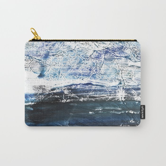 Gray-blue watercolor Carry-All Pouch