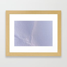 Crumpled Heart on Paper Texture Framed Art Print