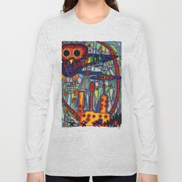 Owls Over The Stock Exchange Long Sleeve T-shirt