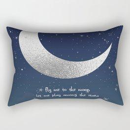Carpe Noctem - Fly Me to the Moon Rectangular Pillow