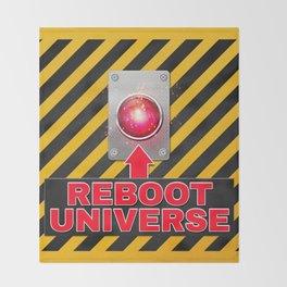 Reboot Universe Button Throw Blanket