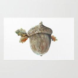 Fall acorn and oak leaves Rug
