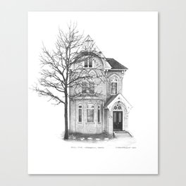 Gothic Style, Cabbagetown - Architectural Styles of Toronto Houses Canvas Print