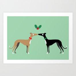 Hound Kiss Art Print