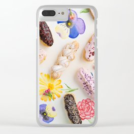 Eclairs with toppings Clear iPhone Case