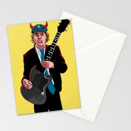 ACDC Angus Young Stationery Cards