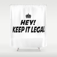 lawyer Shower Curtains featuring Keep It Legal by ThreeWords