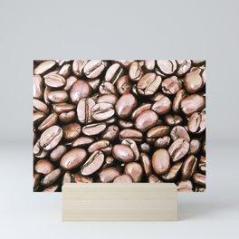 roasted coffee beans texture acrstd Mini Art Print