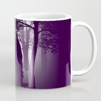 bigfoot Mugs featuring Bigfoot Forest by Paz Art