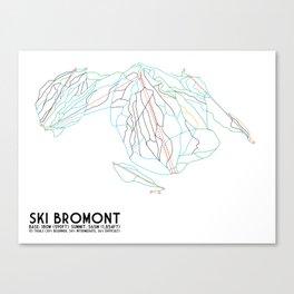 Ski Bromont, QC, Canada - Minimalist Trail Art Canvas Print