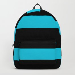 Hollywood Nights Black and Teal Stripes Backpack