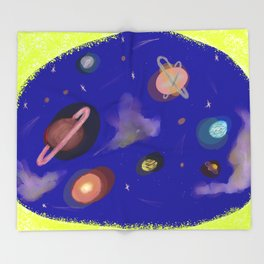 Space Story Throw Blanket