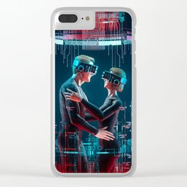 Virtual Lovers Clear iPhone Case