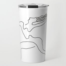 One line Picasso variant (with hair) Travel Mug