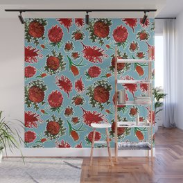 Australian Native Floral Pattern Wall Mural