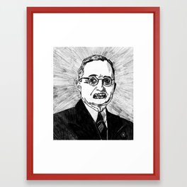 33. Zombie Harry S. Truman  Framed Art Print
