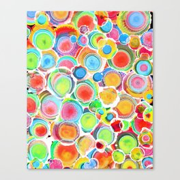 Sunshine on Your Spotty Mind (Alcohol Inks Series 07) Canvas Print