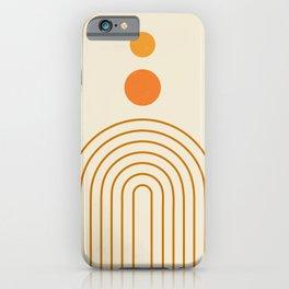 Abstraction_SUN_MOON_GALAXY_ART_Minimalism_001G iPhone Case