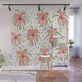 Tropical Fiesta Flowers Wall Mural