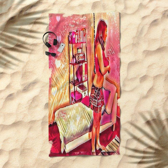 Meat Hook Beach Towel