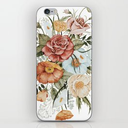 Roses and Poppies iPhone Skin