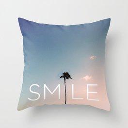Palm tree Smile Throw Pillow