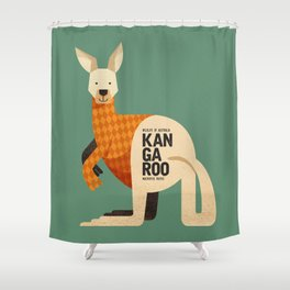 Hello Kangaroo Shower Curtain