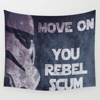 storm trooper Wall Tapestries featuring Storm Trooper Grunge Move Out by Freak Shop | Freak Products