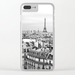 Paris Rooftops and the Eiffel Tower Clear iPhone Case