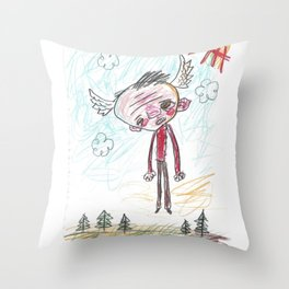 Light Headed Throw Pillow
